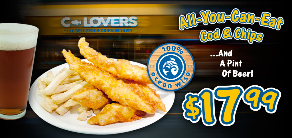 C lovers fish chips for Can you eat fish everyday