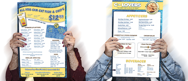 C-Lovers Fish and Chips - Dine In Menu